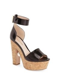 Nicholas Kirkwood | Black Maya Pearl Leather and Cork Platform Sandals | Lyst