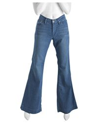 James Jeans - Blue Teal Wash Stretch Humphrey Flare Leg Jeans - Lyst