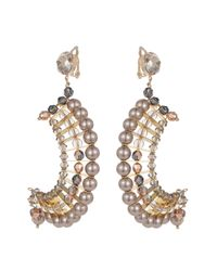 Nadia Minkoff - Metallic Statement Crescent Earrings Lilac - Lyst