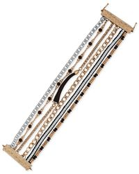 Lucky Brand | Metallic Two-tone Horn-detail Multi-layer Bracelet | Lyst