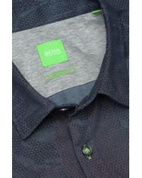 BOSS Green - Pink Regular-Fit Casual Shirt 'Byagio' In Cotton for Men - Lyst