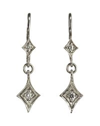 Cathy Waterman - White Double-drop Earrings - Lyst