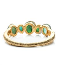 Alexis Bittar | Green Maldivian Multi-stone Stacking Hinged Bracelet With Chrysoprase And Amazonite Doublets You Might Also Like | Lyst