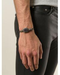 Saint Laurent - Black Concho Style Bracelet for Men - Lyst
