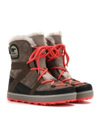 Sorel - Gray Glacy Explorer Shortie Suede Boots - Lyst