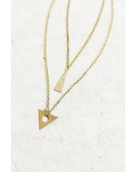 Urban Outfitters - Metallic Triangle Prism Layer Necklace - Lyst