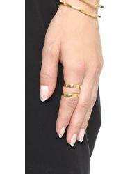 Elizabeth and James | Metallic Livi Stacking Ring Set - Gold | Lyst