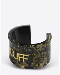MM6 by Maison Martin Margiela | Black Plexi Cuff Bracelet | Lyst