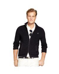 Ralph Lauren | Black Cotton Full-zip Cardigan for Men | Lyst