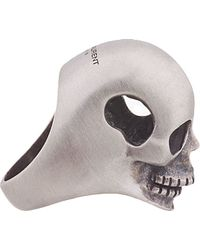 Saint Laurent | Metallic Silver Hollow Head Skull Ring for Men | Lyst