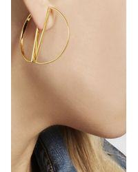 Maria Black - Metallic Half Hoop Gold-Plated Earrings - Lyst