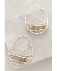 Anthropologie | Metallic Catinka Hoops | Lyst