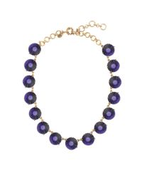 J.Crew - Blue Faceted Dots Necklace - Lyst