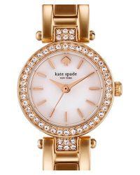 kate spade new york - Metallic 'tiny Gramercy' Crystal Bezel Bracelet Watch - Lyst