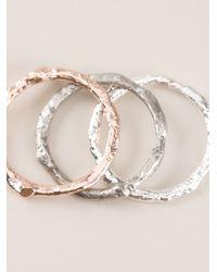 Bjorg | Metallic Stack Of Three Rings | Lyst