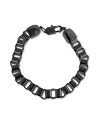 Marc Ecko - Blackplated Box Link Chain Bracelet for Men - Lyst