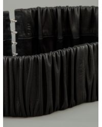 Black Lily | Black Ruched Belt | Lyst