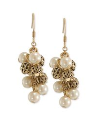Carolee | Metallic Material Girl Cluster Earrings | Lyst