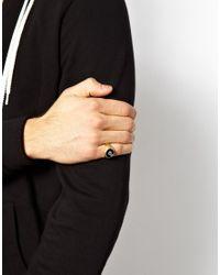 ASOS - Metallic Signet Ring with 8 Ball for Men - Lyst
