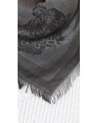 KENZO | Gray Iconic Tiger Jacquard Scarf - Grey | Lyst