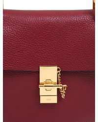 Chloé - Purple Small Drew Grained Nappa Leather Bag - Lyst