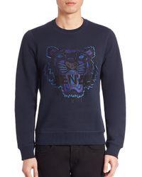 KENZO | Blue 'tiger' Sweatshirt for Men | Lyst