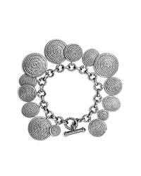David Yurman - Metallic Cable Coil Charm Bracelet - Lyst