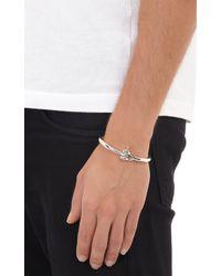 Miansai - Metallic Sterling Silver Reeve Bracelet for Men - Lyst