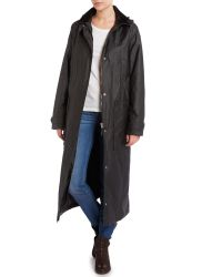 Cloud Nine - Black Single Breasted Long Line Coat - Lyst