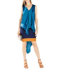 BCBGMAXAZRIA | Blue Cyprien Asymmetrical Tunic Dress | Lyst