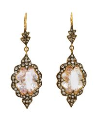 Cathy Waterman | Metallic Scalloped Drop Earrings | Lyst