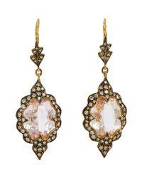Cathy Waterman - Metallic Scalloped Drop Earrings - Lyst