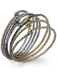 ABS By Allen Schwartz | Metallic Tri-tone Crystal Stretch Bracelet Set | Lyst