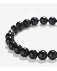 Cole Haan - Black 8mm Bead Bracelet With Bead Closure - Lyst