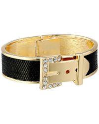 Guess | Black Buckle Hinge Cuff Bracelet | Lyst