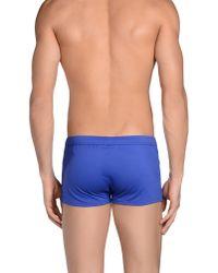 Emporio Armani - Blue Swimming Trunk for Men - Lyst