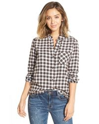 RVCA | Black Jig 2 Plaid Shirt | Lyst