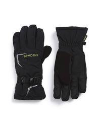 Spyder - Black 'traverse' Waterproof Ski Gloves - Lyst