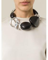 Monies | Black Oversized Stones Necklace | Lyst