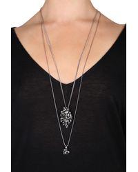 Dorothee Schumacher | Metallic Crystal Line Double Chain Fine Pendant | Lyst