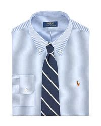 Polo Ralph Lauren - Blue Striped Cotton Oxford Shirt for Men - Lyst