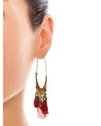Isabel Marant | Red Mild Tassel Hoop Earrings | Lyst