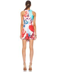 Nicholas - Multicolor Collage Silk Wrap Dress in Floral Multi - Lyst