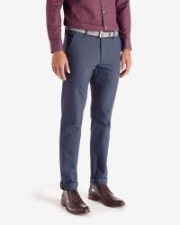 Ted Baker - Blue Edetro Micro Textured Suit Trousers for Men - Lyst