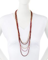 Nakamol | Multicolor Five-strand Long Pearl Necklace | Lyst
