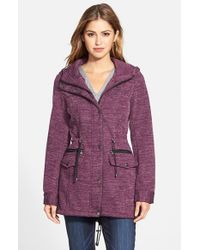 Steve Madden | Purple Sweater Knit Anorak | Lyst