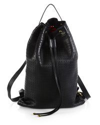 Marni - Black Small Perforated Backpack - Lyst