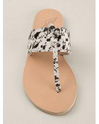 Ancient Greek Sandals - Brown T-Bar Animal Print Sandals - Lyst