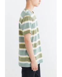 BDG - Green Morrow Stripe Standard-fit Tee for Men - Lyst