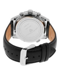 Swiss Legend - Skyline Chrono Black Genuine Leather Strap Light Blue Dial for Men - Lyst